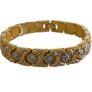 🇨🇦 Vintage gold plated link bracelet in EUC